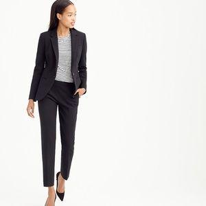 J. Crew Tall Single Button Black Blazer Jacket